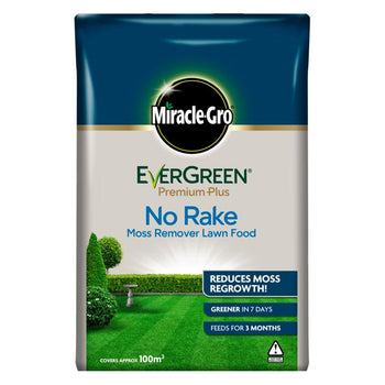 Miracle Gro Evergreen Premium Plus No Rake Moss Remover Lawn Food - DeWaldens Garden Centre