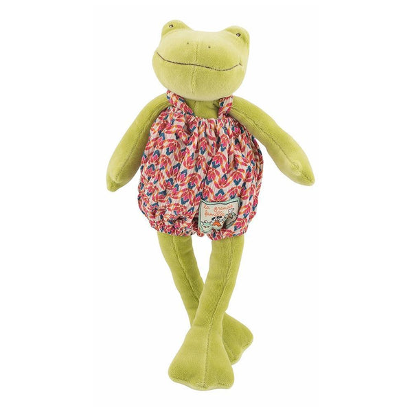 Moulin Roty Small Soft Toy | Perlette the Frog | DeWaldens Garden Centre