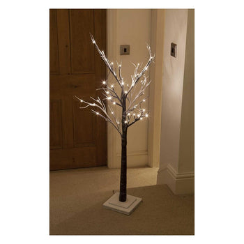 Noma 4ft Snow Flocked Tree with 48 LEDs - DeWaldens Garden Centre
