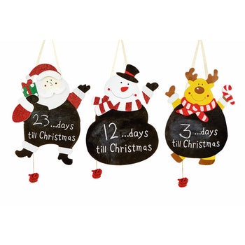 Premier 30cm Black Boards - Days To Xmas - DeWaldens Garden Centre