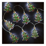 Snowtime 10 Iron Christmas Tree Shaped Lights - DeWaldens Garden Centre