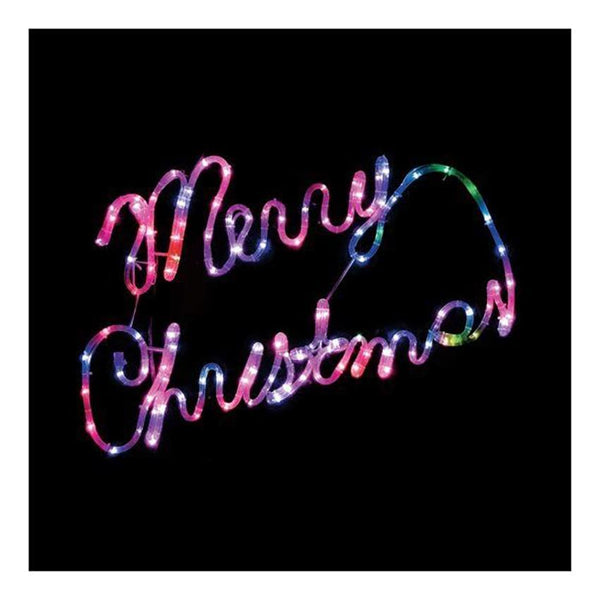 Snowtime Colour Changing LED Merry Christmas Sign - DeWaldens Garden Centre