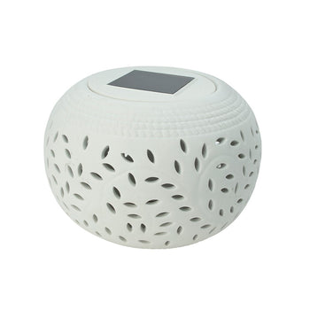 Cole & Bright Solar Ceramic Filigree Table Light - DeWaldens Garden Centre
