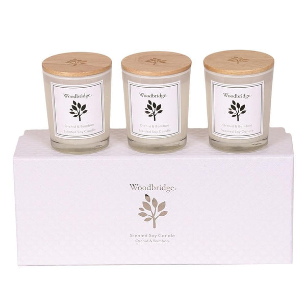 Woodbridge Set of 3 Soy Candles - DeWaldens Garden Centre