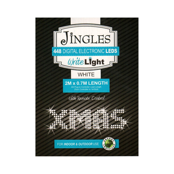 Jingles 448 Write Light White LED | 2m x 0.7m | DeWaldens Garden Centre