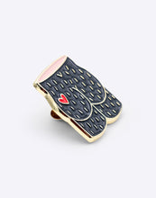 Load image into Gallery viewer, Arty Farty Bum Heart Enamel Pin