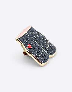 Arty Farty Bum Heart Enamel Pin