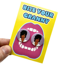 Load image into Gallery viewer, Prince Purple Rain Button Stud Earrings
