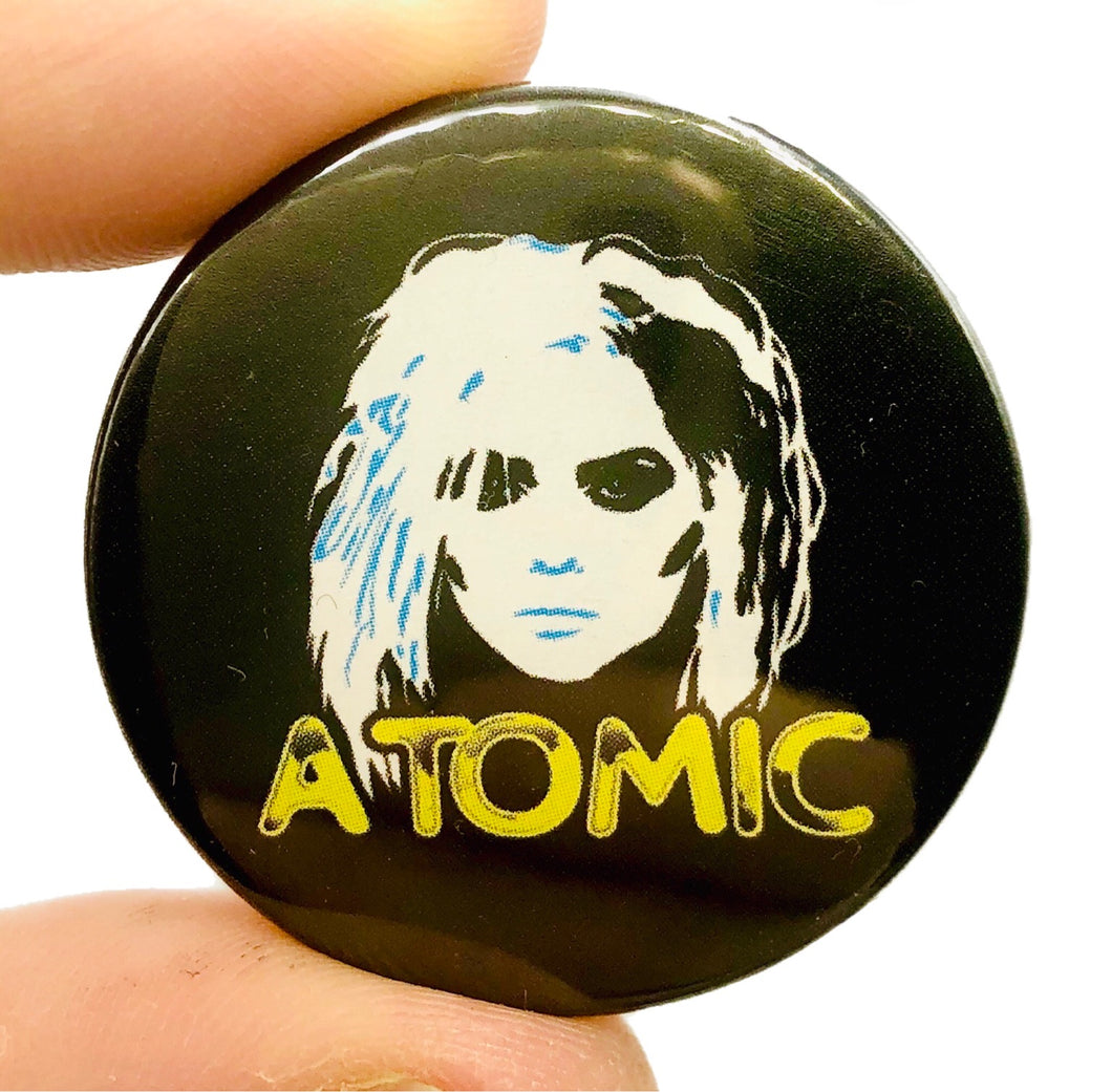 Blondie Atomic Button Pin Badge