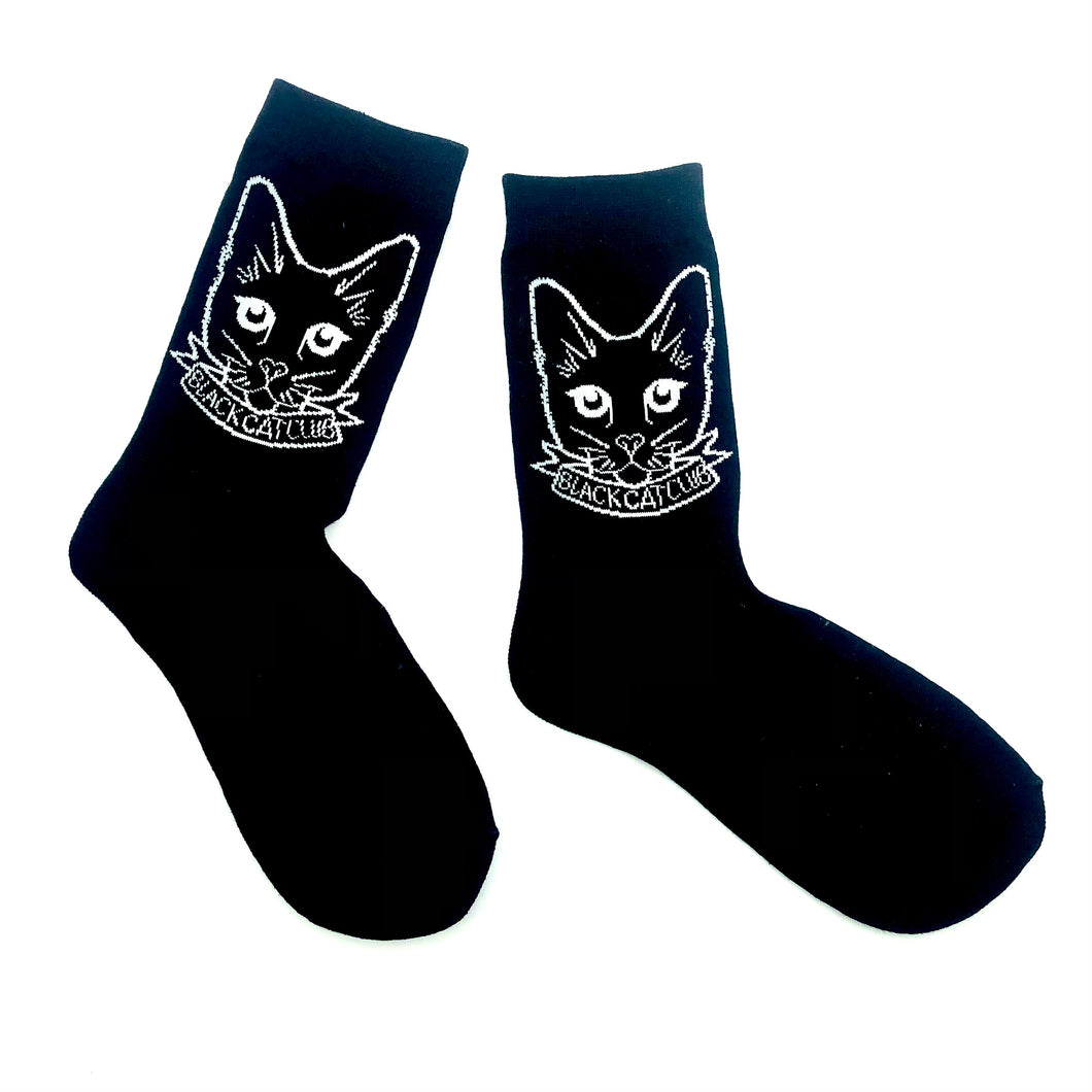 Black Cat Club Socks