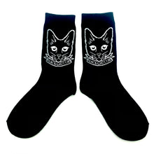 Load image into Gallery viewer, Black Cat Club Socks