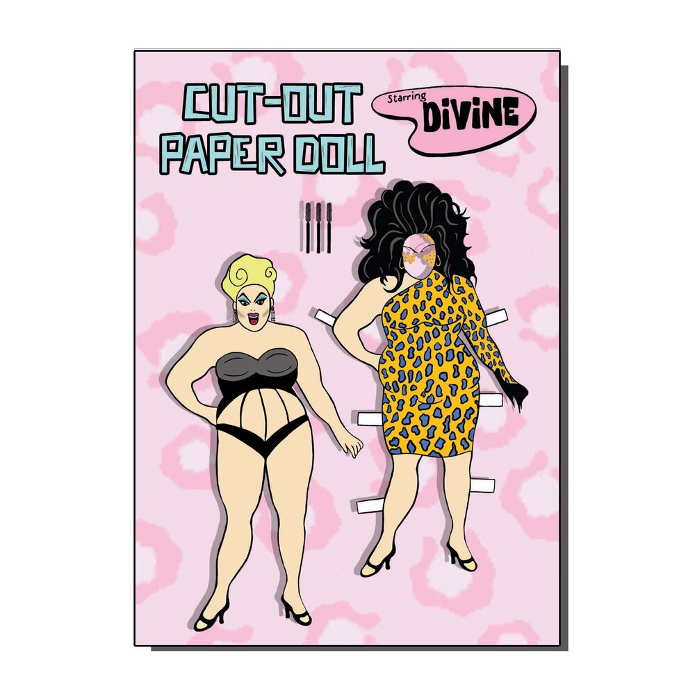 Divine Cut Out Paper Doll Greetings Card