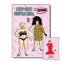 Load image into Gallery viewer, Divine Cut Out Paper Doll Greetings Card