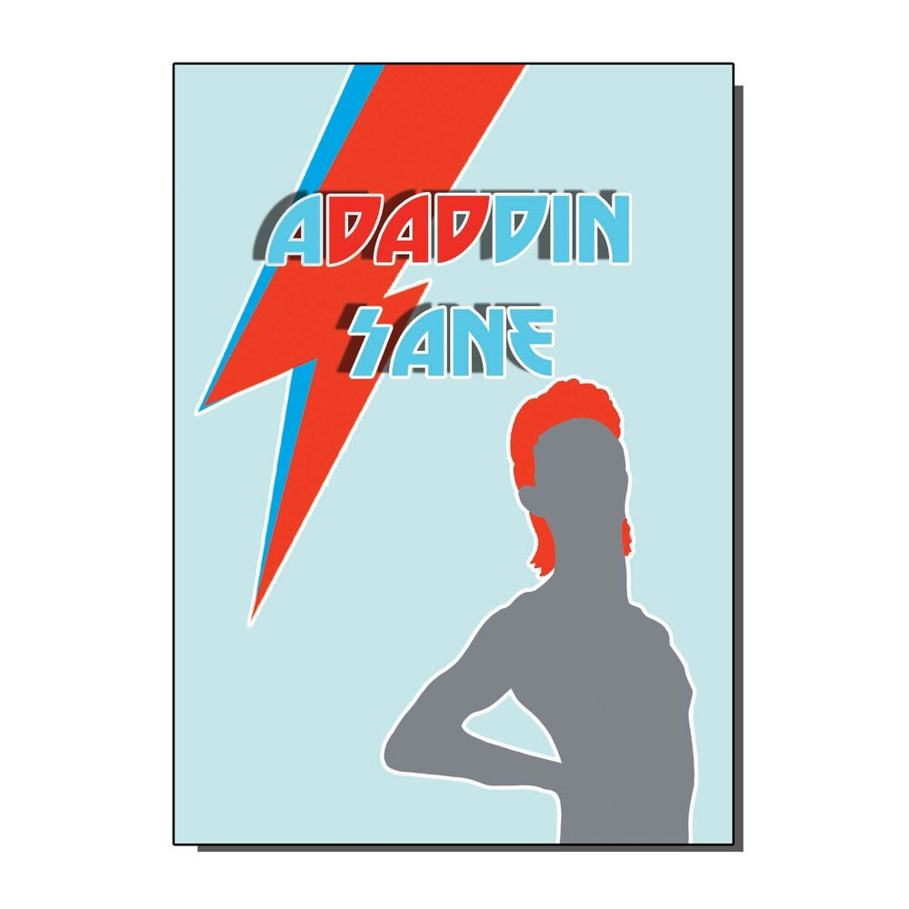 Adaddin Sane Greetings Card