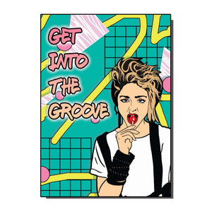 Get Into The Groove Greetings Card