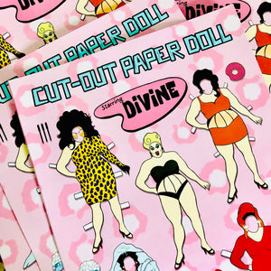 Cut Out Paper Doll Staring Divine Art Print