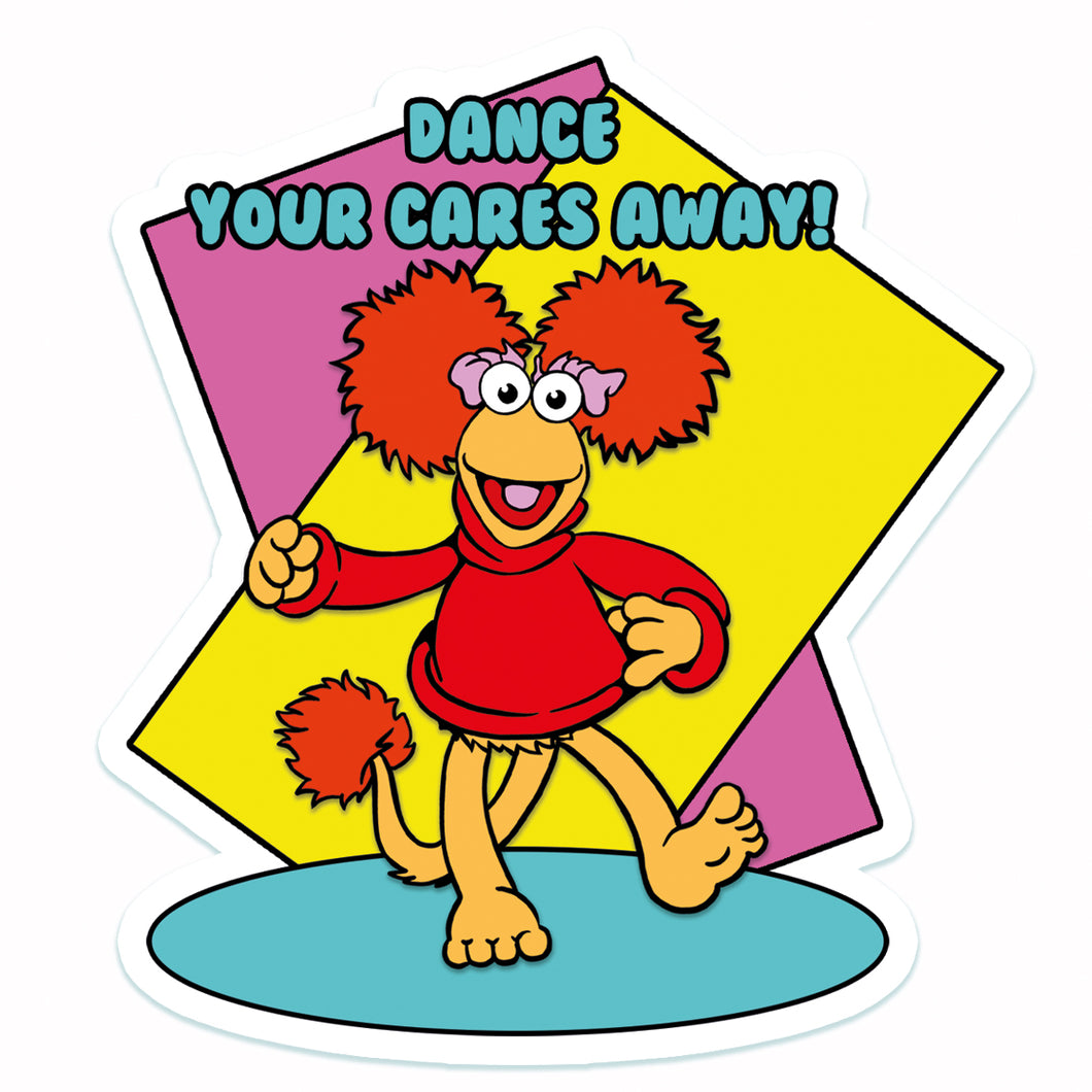 Dance Your Cares Away Vinyl Sticker