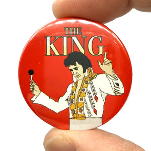 Elvis The King Pin Badge