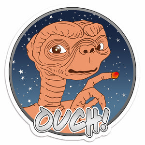 ET Ouch 1980'S Style Sticker