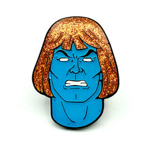 Load image into Gallery viewer, Glitter Faker He-Man Enamel Pin