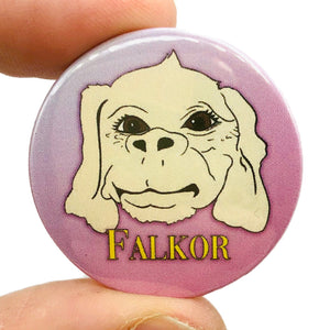 Falkor The Never Ending Story Button Pin Badge