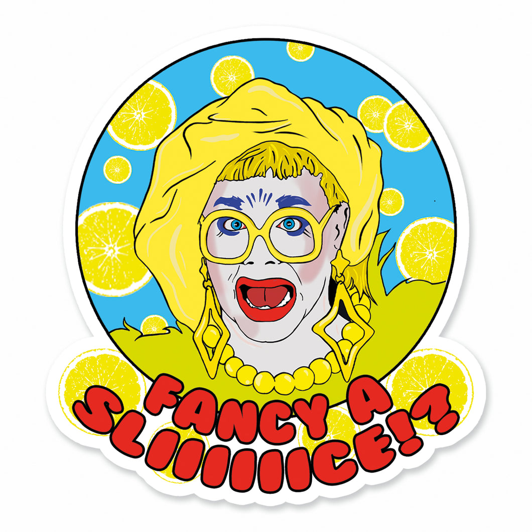 Ginny Lemon Fancy A Slice Vinyl Sticker