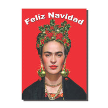 Load image into Gallery viewer, Frida Kahlo Feliz Navidad Christmas Card