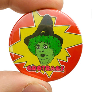 Grotbags Button Pin Badge