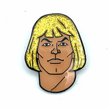 Load image into Gallery viewer, Glitter He-Man Enamel Pin
