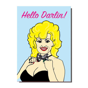 Hello Darlin' Dolly Parton Greetings Card