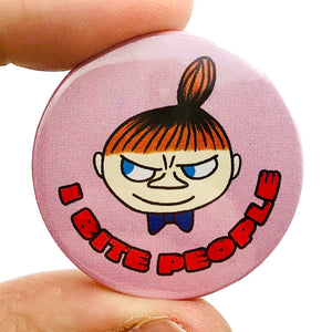 I bIte People Button Pin Badge