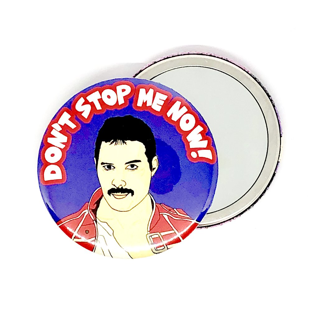 Freddie Don't Stop Me Now Pocket Hand Mirror