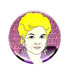 Large Pat Pat Pat Pin Badge