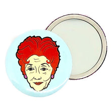 Load image into Gallery viewer, Dot Cotton I Ain't One To Gossip Pocket Hand Mirror