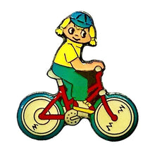 Load image into Gallery viewer, Girl On A Bike Enamel Pin