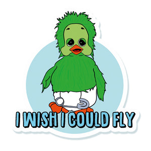 Orville I Wish I could Fly Vinyl Sticker