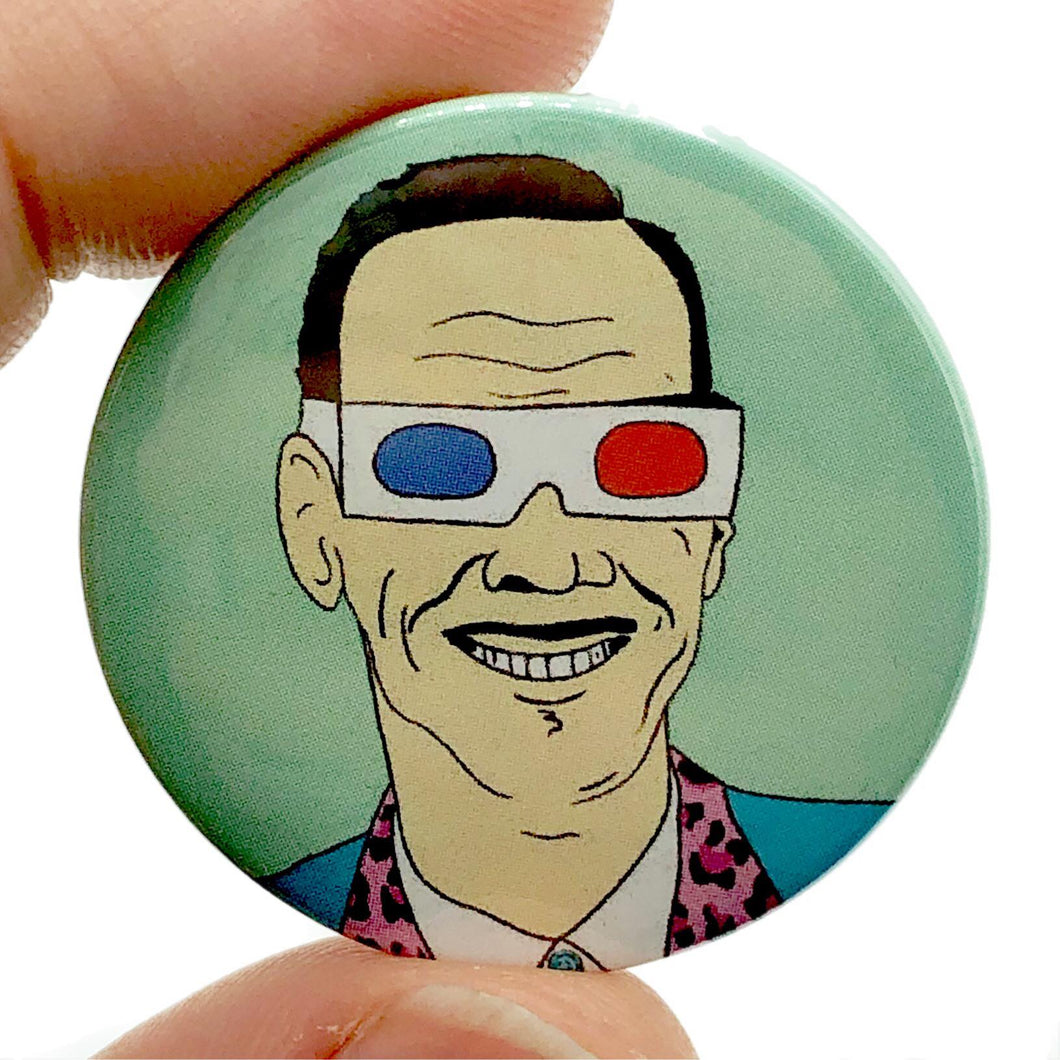 John Waters X-Ray Spex Button Pin Badge