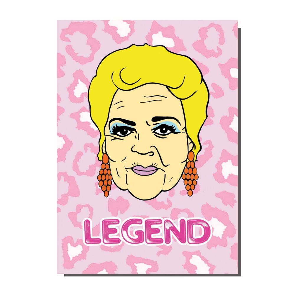 Pat Butcher Legend Greetings Card