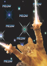 Load image into Gallery viewer, Zap Meow Zap Space Kitty Card