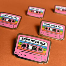 Load image into Gallery viewer, Homo Mega Mix Tape Enamel Pin Badge