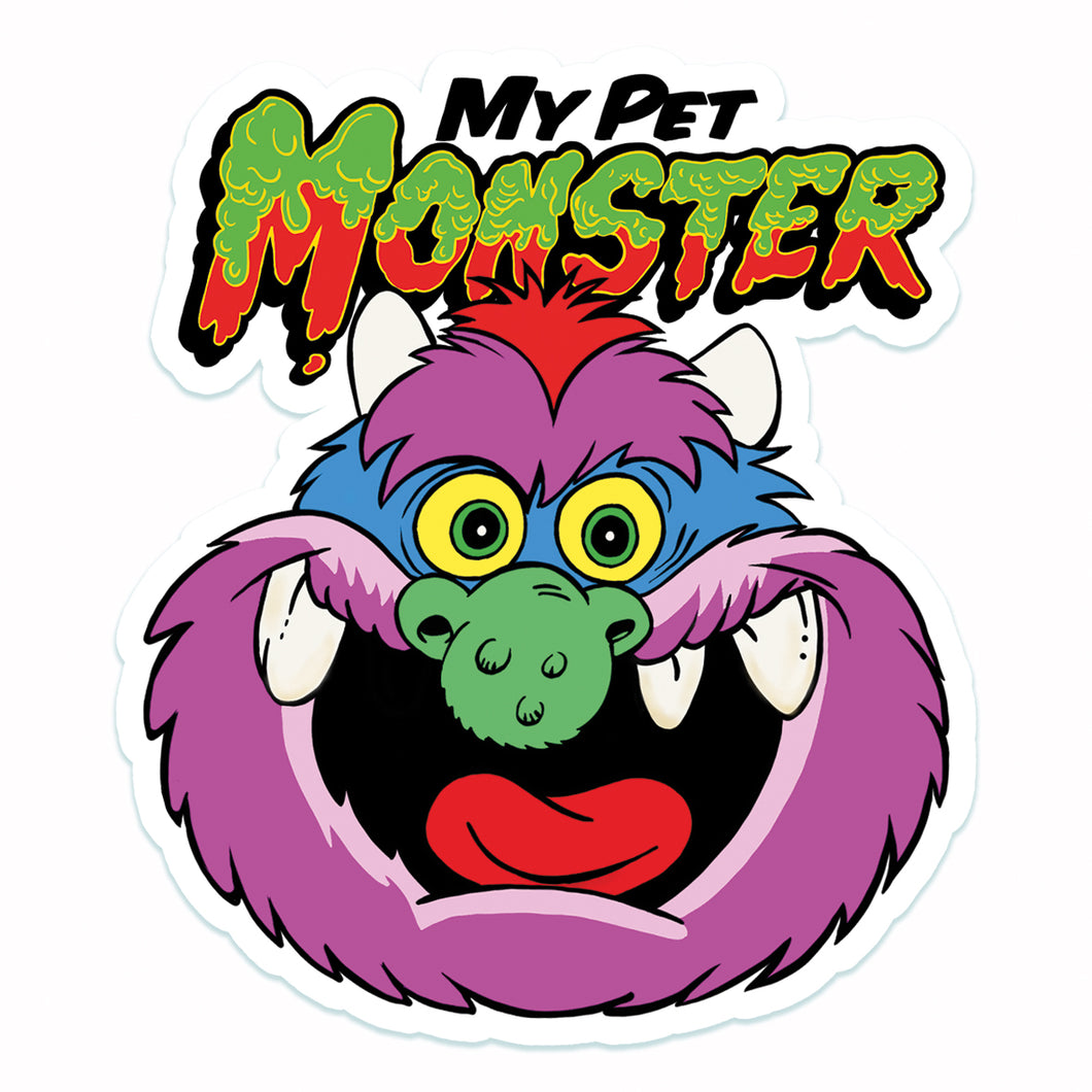 My Pet Monster Vinyl Sticker
