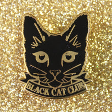 Load image into Gallery viewer, Black Cat Club Enamel Pin Brooch