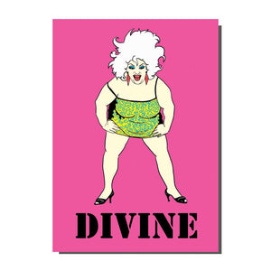 Divine John Waters Greetings Card