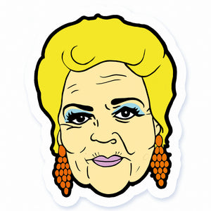 Pat Butcher Vinyl Sticker