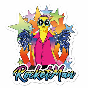 Elton John Rocket Man Sticker