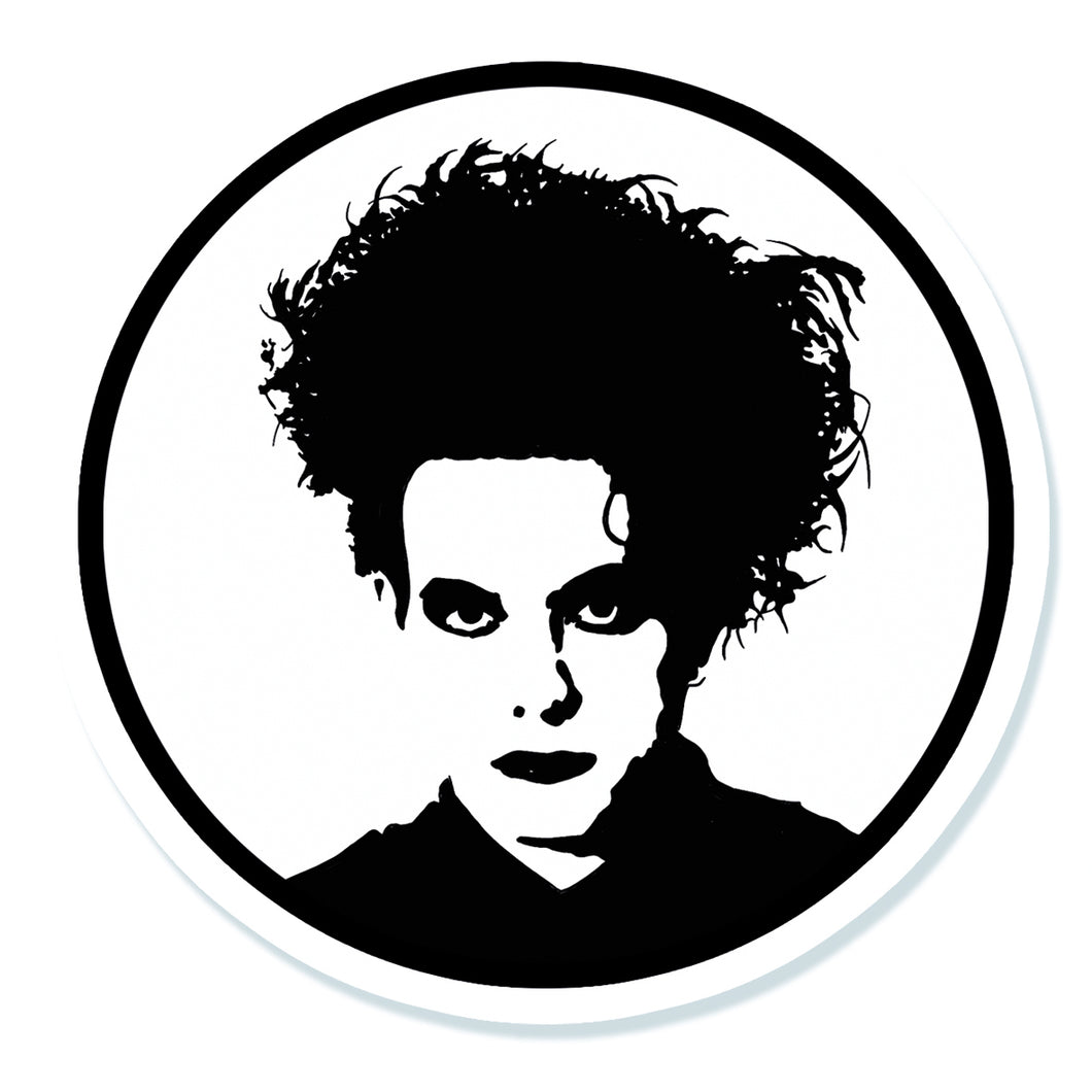 The Cure Robert Smith Vinyl Sticker