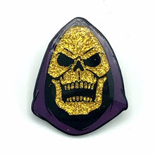 Load image into Gallery viewer, Limited Edition Aaron Craig Glitter Skeletor Enamel Pin