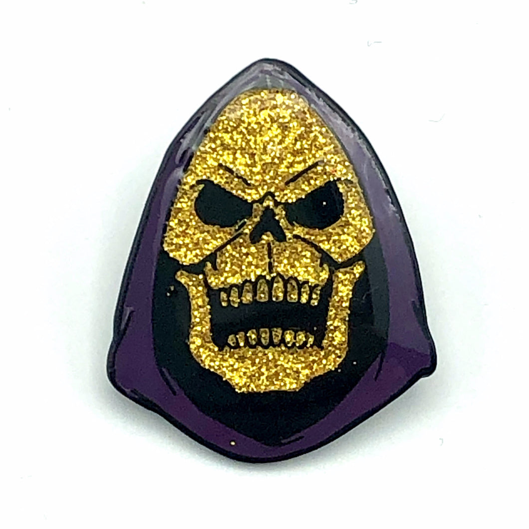 Limited Edition Aaron Craig Glitter Skeletor Enamel Pin