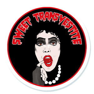 The Rocky Horror Picture Show Sweet Transvestite Vinyl Sticker