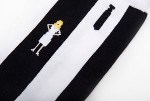 Blondie Parallel Lines Album Cover Inspired Socks
